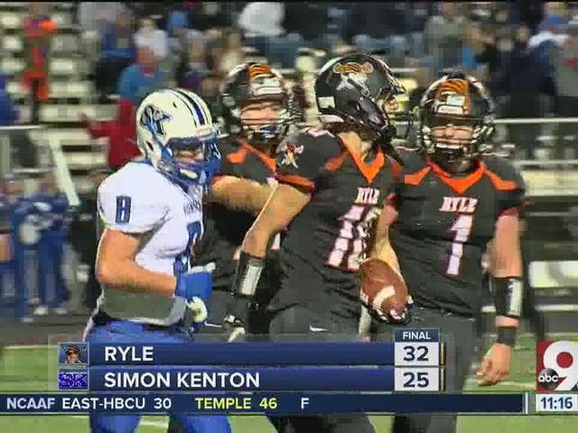 Ryle 32, Simon Kenton 25