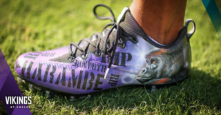 This NFL player wore custom RIP Harambe cleats