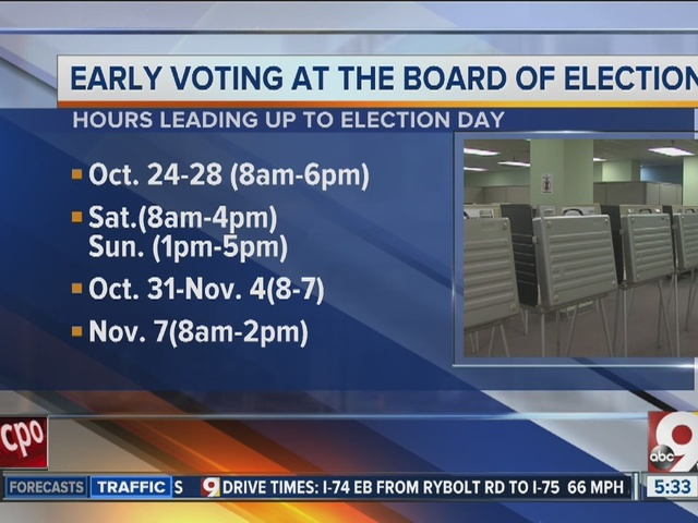 Extended early voting hours start Monday