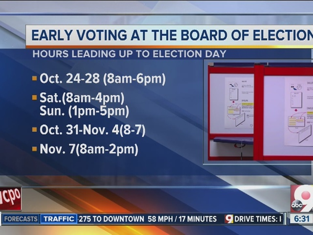 Extended early voting hours start today