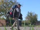 Navy vet walking across continent, but not alone