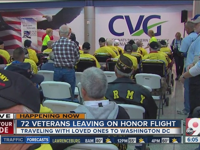 72 veterans leaving on Honor Flight