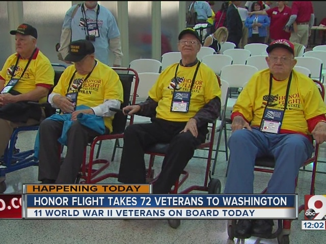 Honor Flight takes 72 veterans to Washington