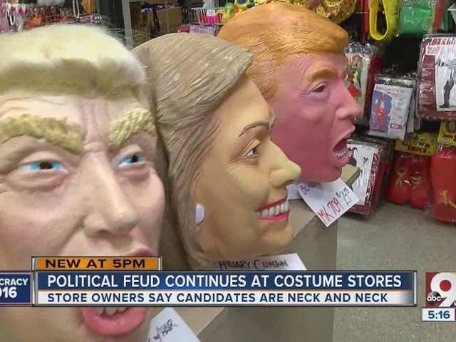Political feud continues at costume stores