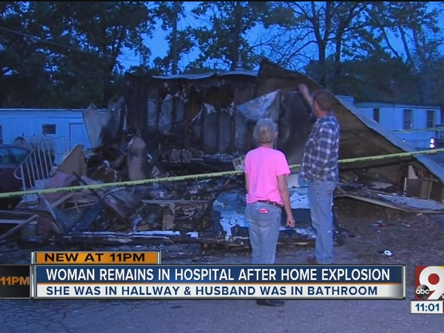 Woman remains in hospital after home explosion