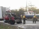 Tractor-trailer crash closes Springfield Pike
