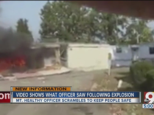 Body-cam footage shows Mount Healthy mobile home explosion that injured…