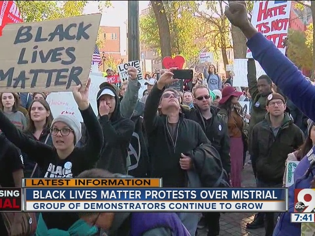 Black Lives Matter peacefully protest over mistrial