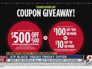 JCPenney's tricky Black Friday offer