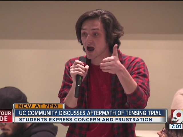 University of Cincinnati community discusses aftermath of Tensing trial