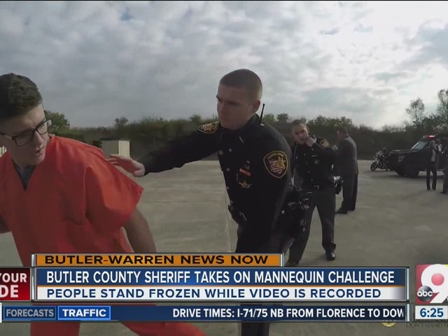 WATCH: Butler County Sheriff's Office records mannequin challenge video