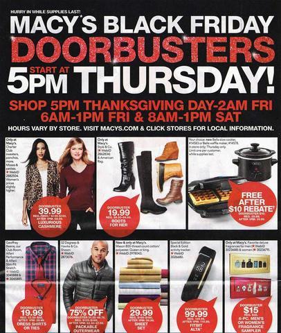 Macy's: Shop select Black Friday doorbuster deals NOW
