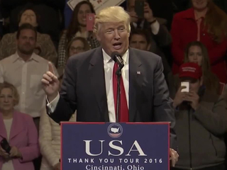 What did Trump promise during Cincy stop?