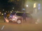 WATCH: Police pull driver from fire after chase