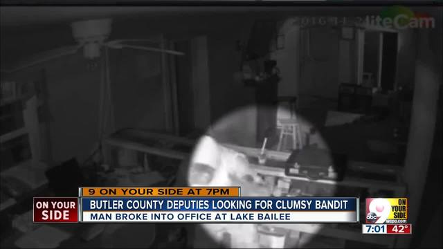 Butler County deputies looking for clumsy bandit