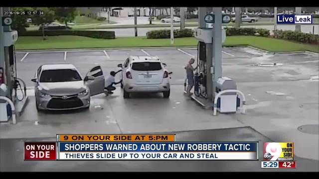 Police warn of gas station thieves called -sliders-