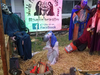 Ohio zombie nativity scene attacked by vandals