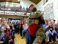 Army dad surprises son in time for Christmas