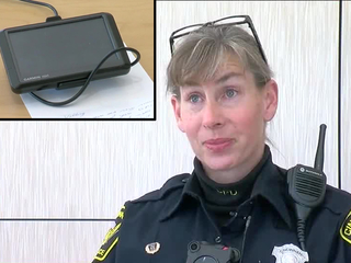 Officer gives her own GPS device to lost driver