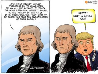 EDITORIAL CARTOON: Freedom of the press
