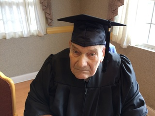 WWII veteran graduates from high school at 90