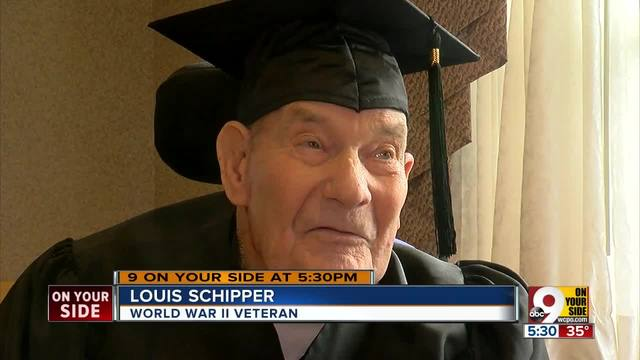 World War II veteran Louis Schipper awarded high school diploma