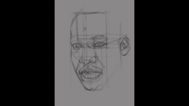 Drawing Dr. Martin Luther King Jr.