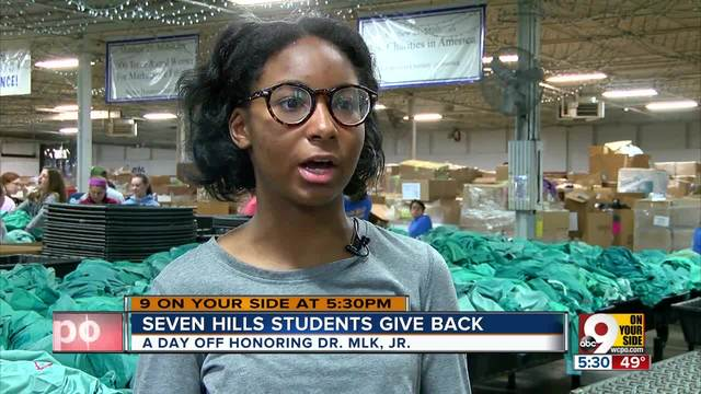 Seven Hills students give back on MLK Day