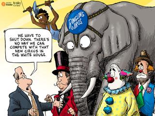 EDITORIAL CARTOON: The new circus