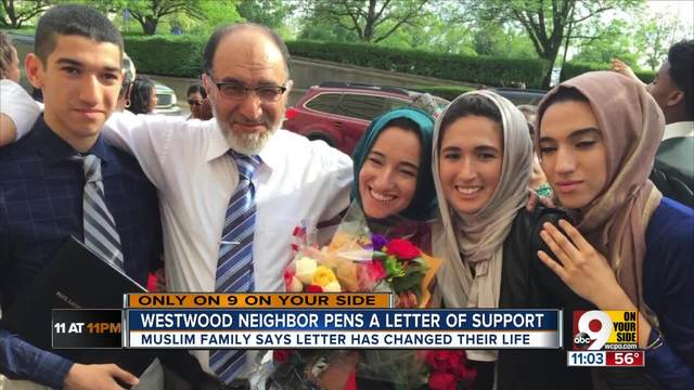 This note a Muslim American got from his Cincinnati neighbor after Trump…
