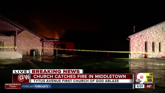 Fire leaves Tytus Avenue First Church of God in Middletown badly damaged