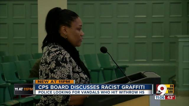 Cincinnati school board discusses racist graffiti