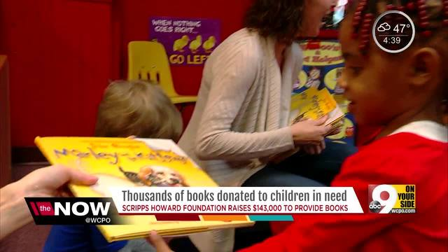 Thousands of books donated to children in need