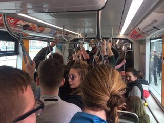 Weekend demonstrations drew big streetcar crowds