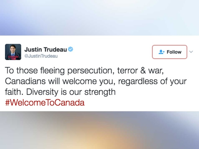 Justin Trudeau On Trump Refugee Ban: