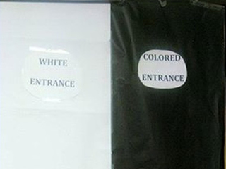 Parent upset by school's 'colored entrance'