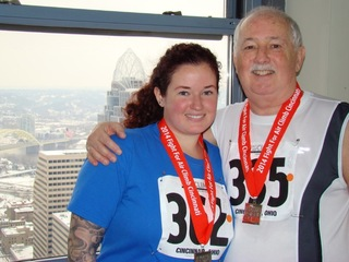 He's climbing Carew Tower after lung transplant
