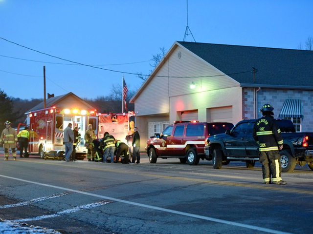 Madison Township firefighters rescue one of their own entrapped