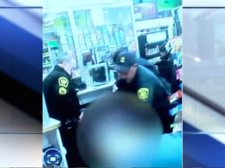 VIDEO: Man shot three times at gas station