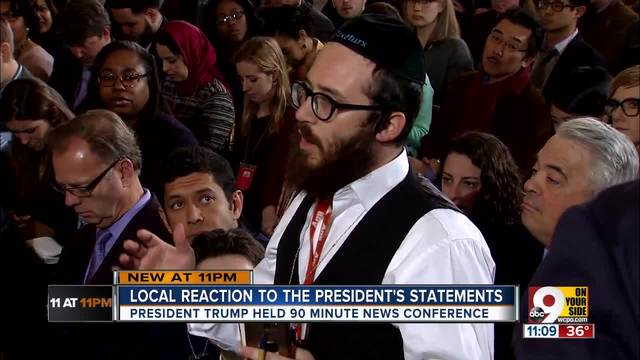 Rabbi calls Trump news conference -disturbing-