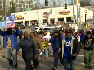 Residents march for peace in Mount Auburn
