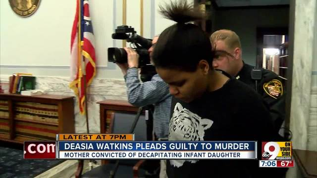 Deasia Watkins pleads guilty to murder