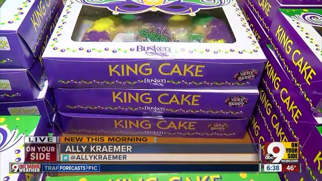 Busken Bakery cranks out king cakes for Fat Tuesday
