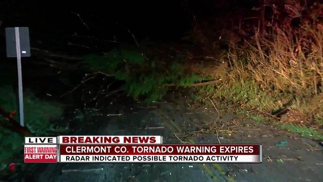 Clermont County tornado warning expires