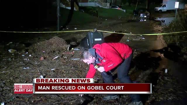 Man stuck in truck on Gobel Avenue