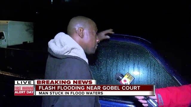 Flash flooding near Gobel Avenue