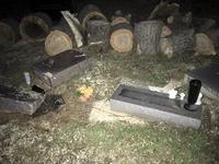 Tornado damages graves in Pierce Twp. Cemetery