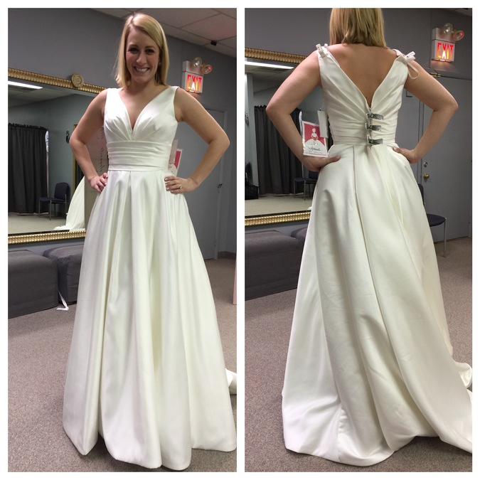 Simple Wedding Dresses For Second Wedding: Reporter Ally Kraemer's Wedding Dress Quest Started, Ended