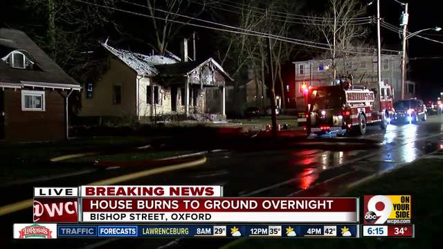 Fire destroys home in Oxford