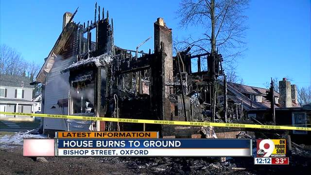 House burns down in Oxford